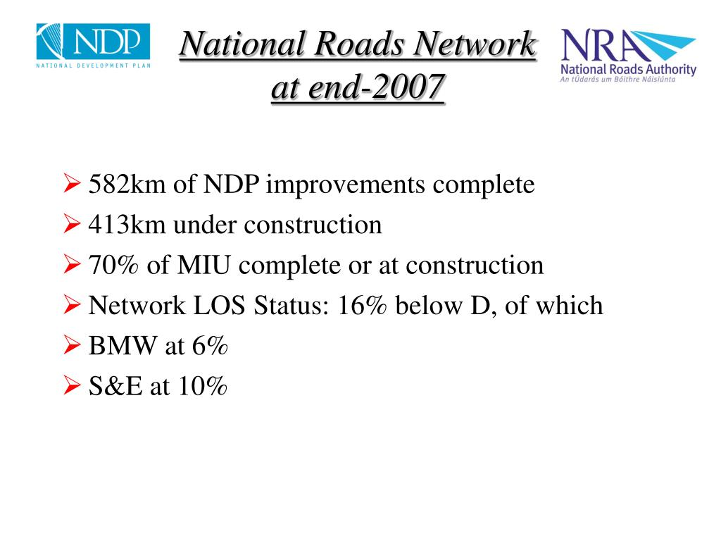 National Roads Network at end-2007