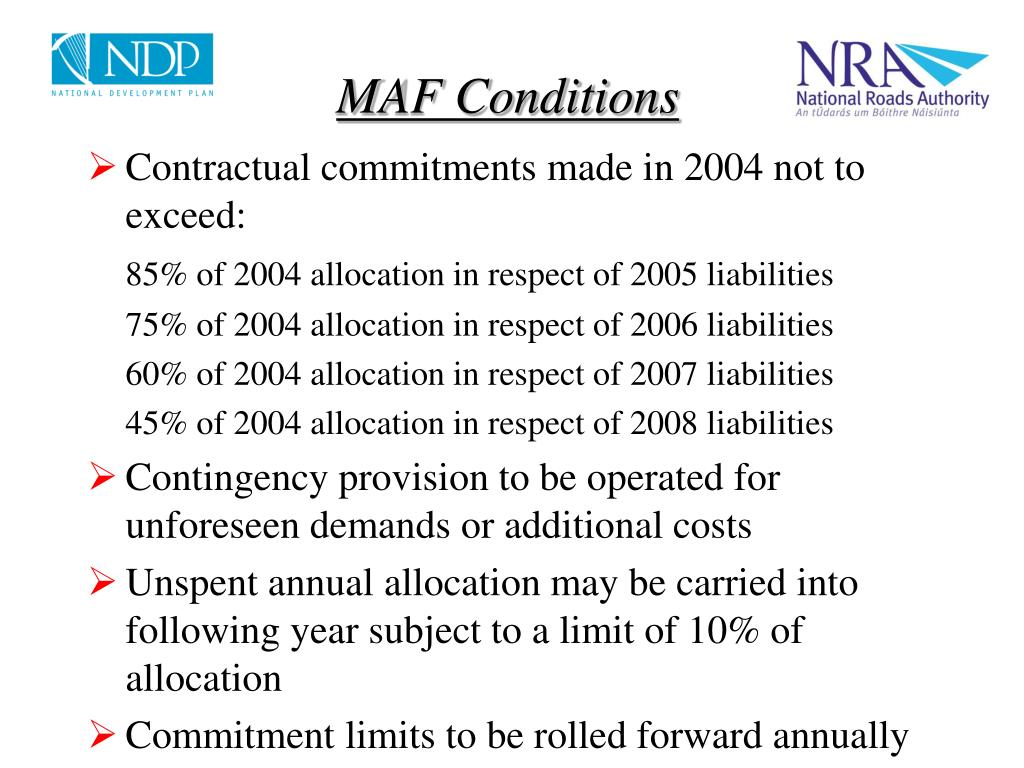MAF Conditions