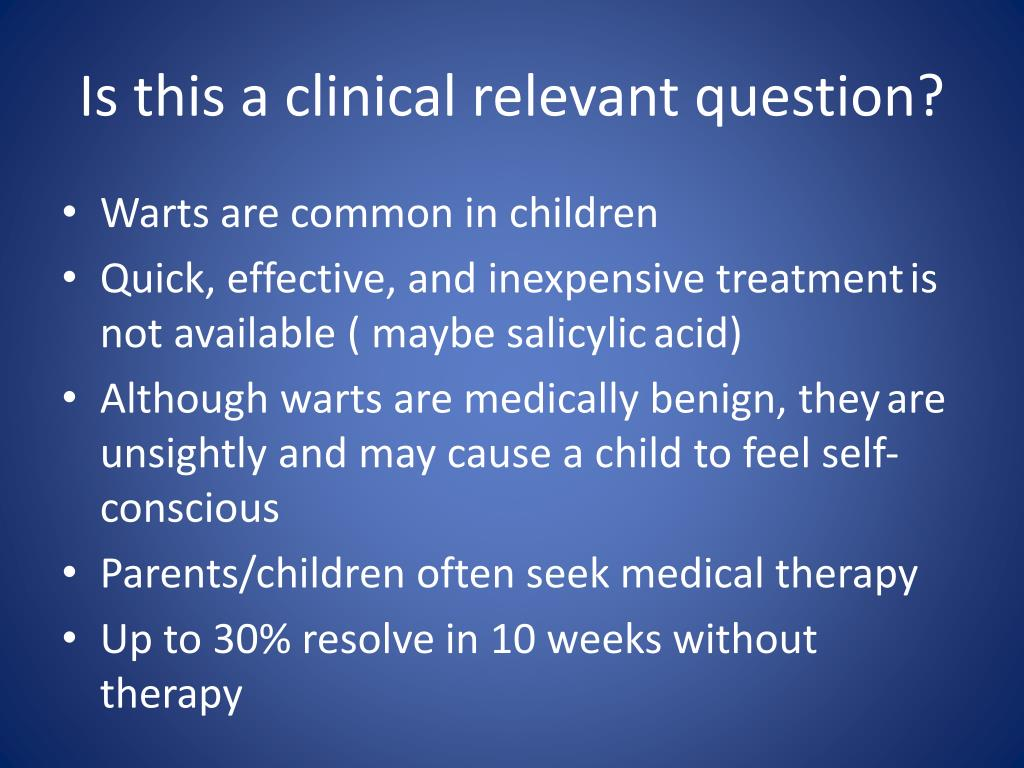 Is this a clinical relevant question?