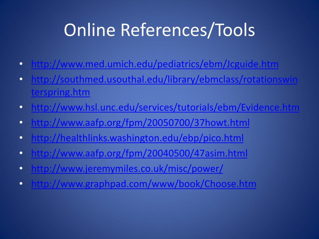 Online References/Tools