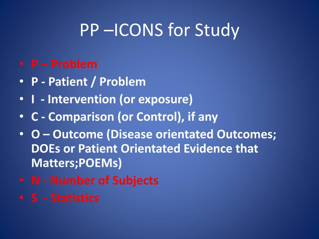 PP –ICONS for Study