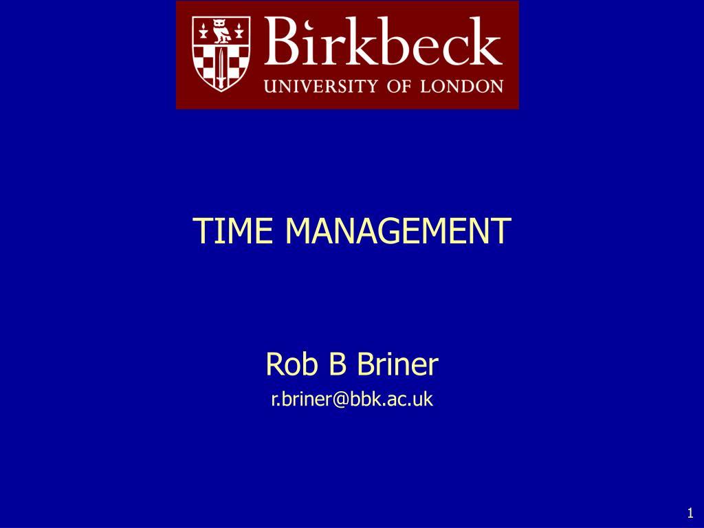 time management l.