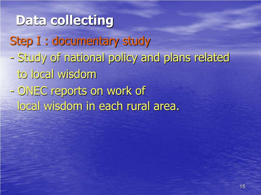 Data collecting