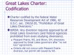 great lakes charter codification