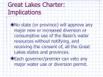 great lakes charter implications