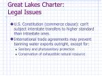 great lakes charter legal issues