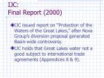 ijc final report 2000