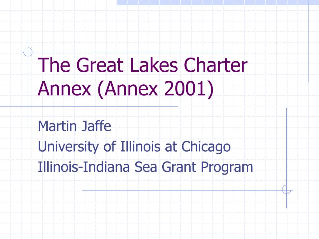 the great lakes charter annex annex 2001