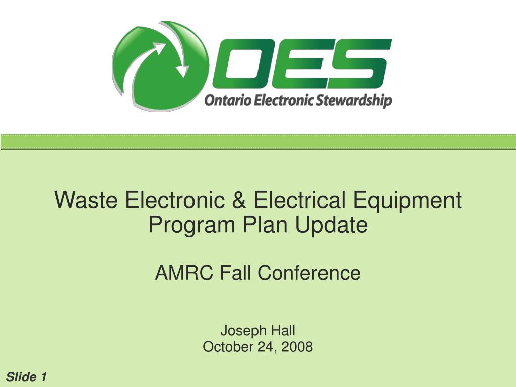 electrical plan program ppt waste electronic  amp     electrical    equipment    program       plan     ppt waste electronic  amp     electrical    equipment    program       plan