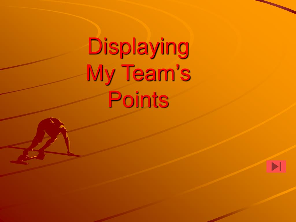 displaying my team s points l.
