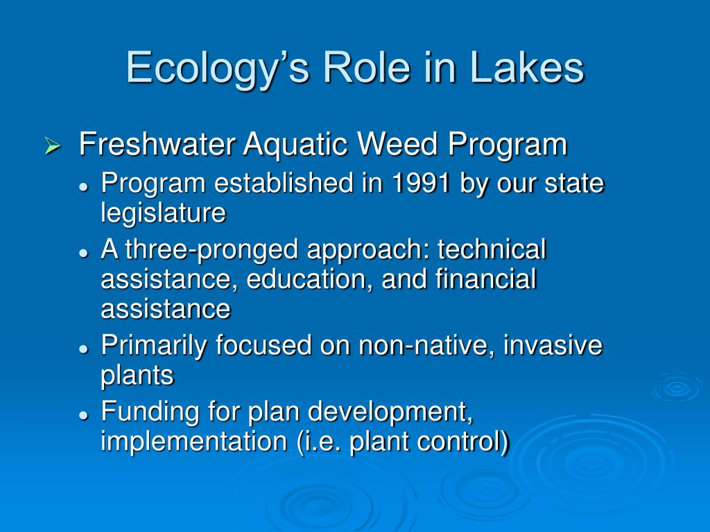 Ecology's Role in Lakes