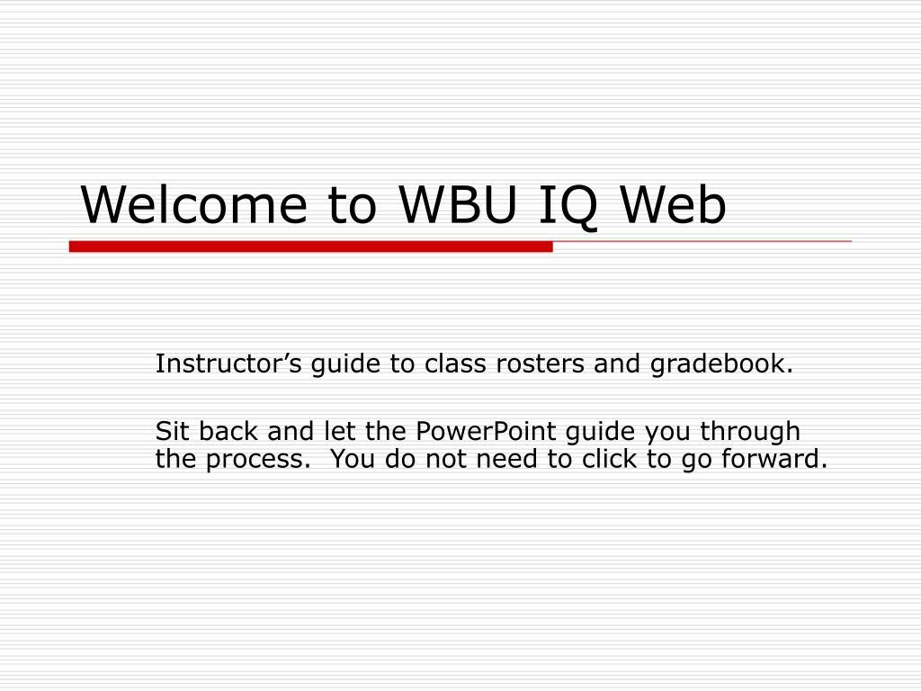 welcome to wbu iq web l.