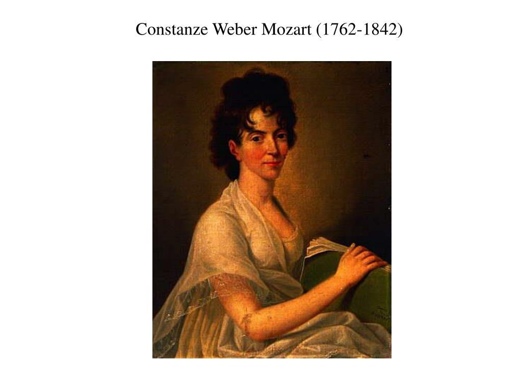Constanze Weber Mozart (1762-1842)