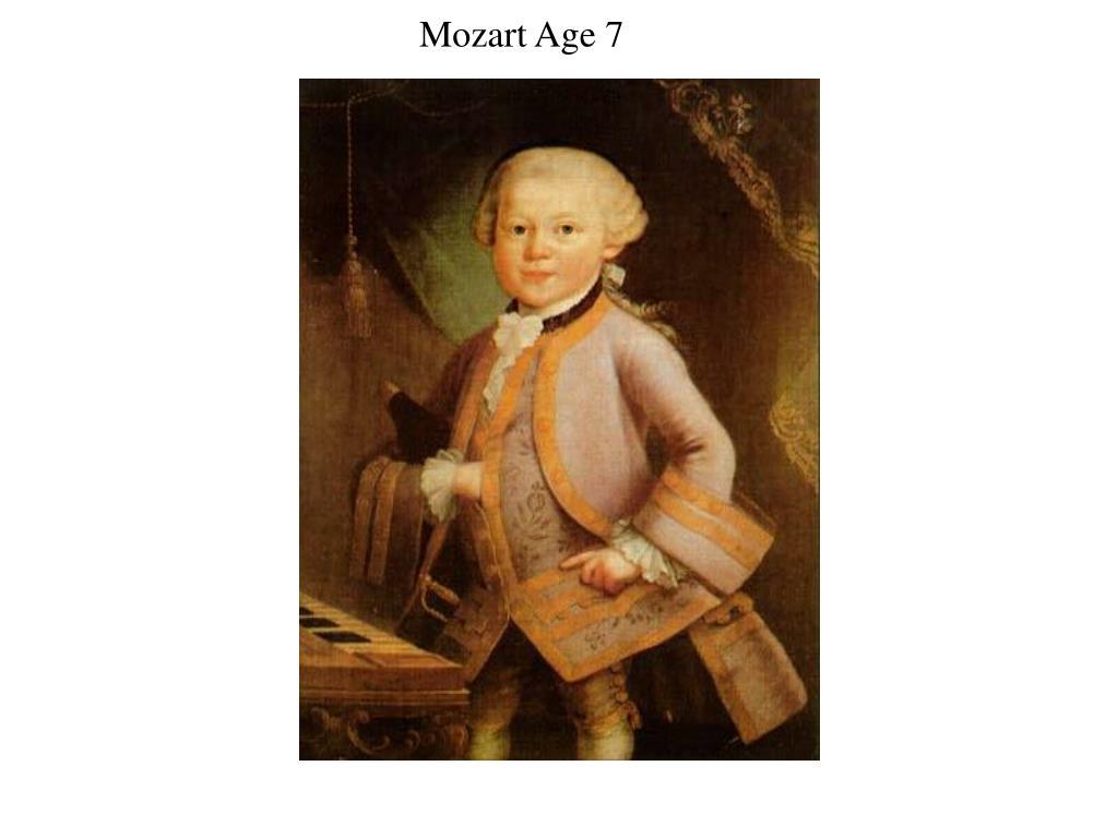 Mozart Age 7