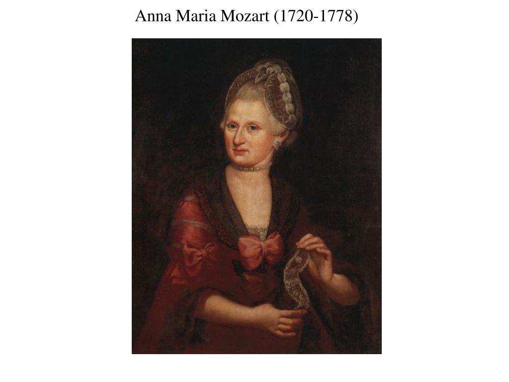 Anna Maria Mozart (1720-1778)