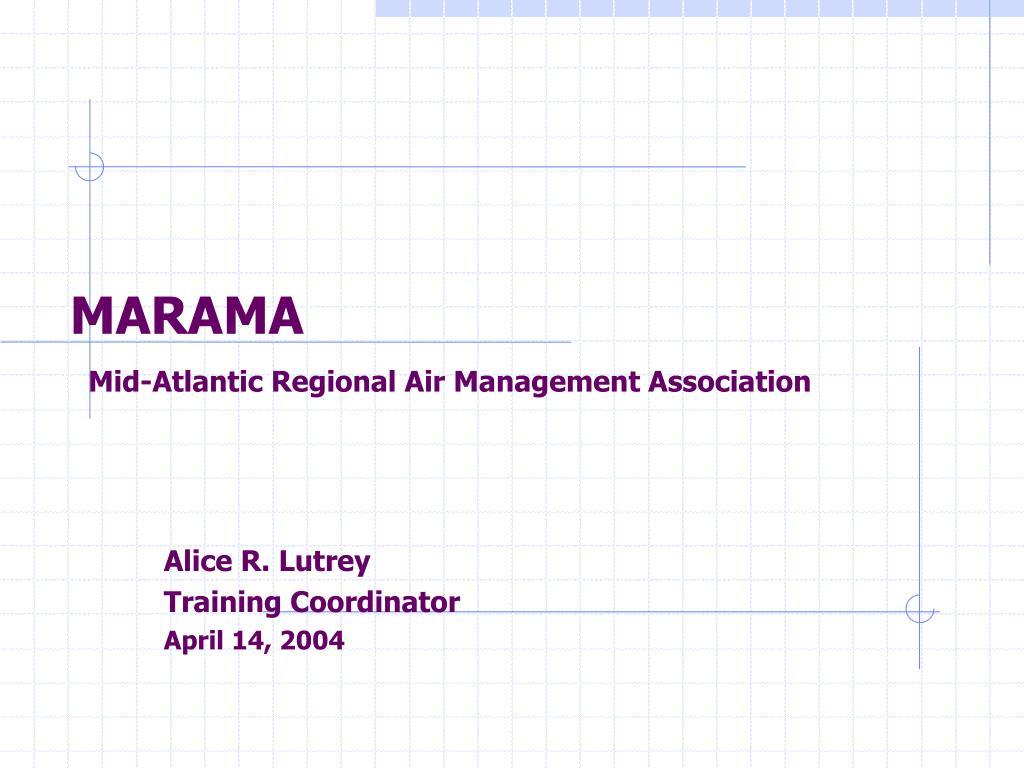 marama mid atlantic regional air management association l.