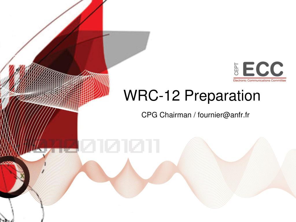 wrc 12 preparation l.