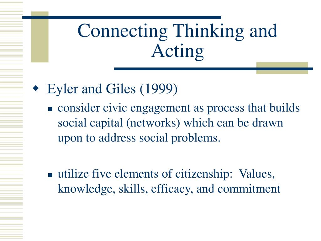 Connecting Thinking and Acting
