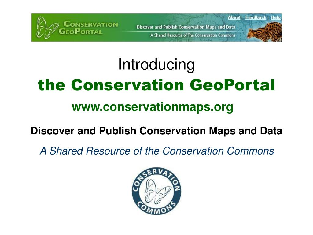 introducing the conservation geoportal l.