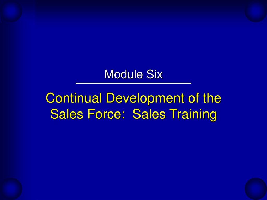 Continual Development of the