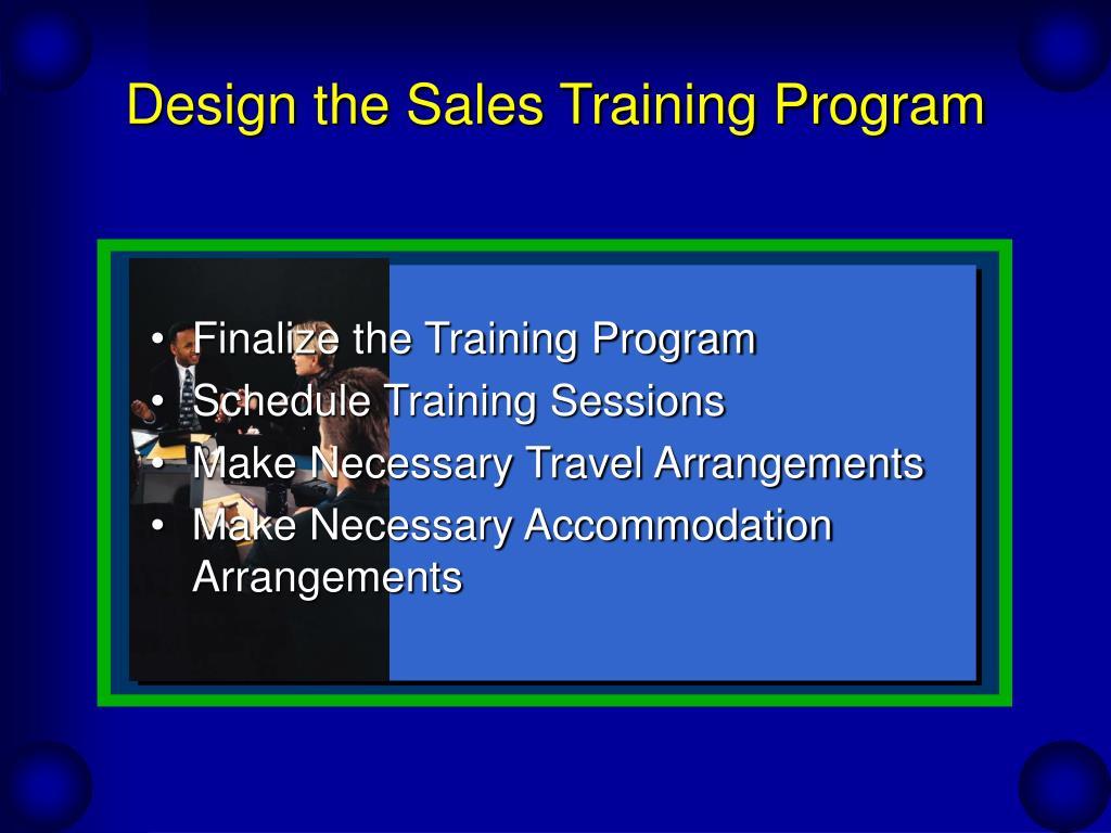 Design the Sales Training Program