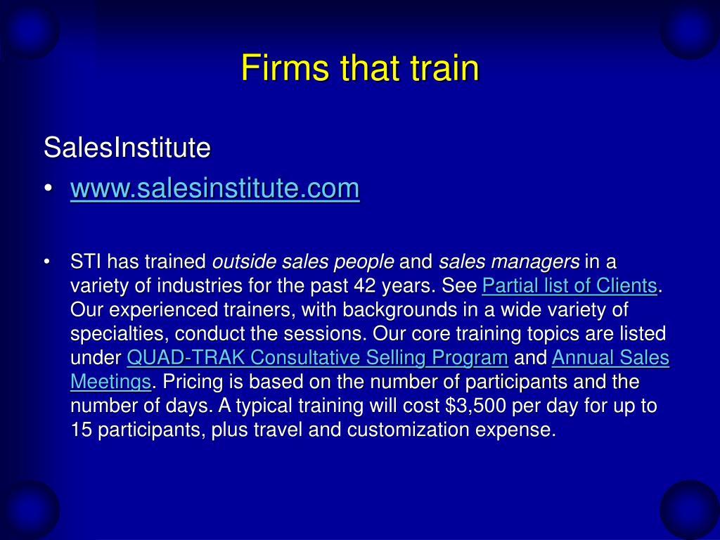 Firms that train