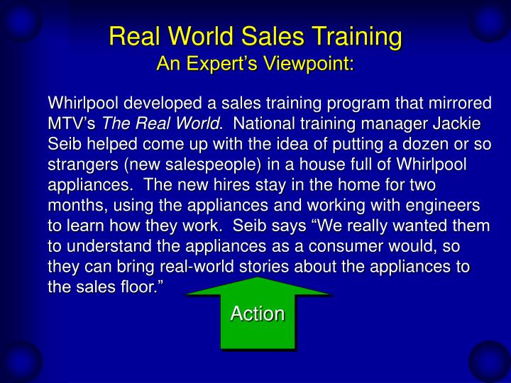 Real world sales training an expert s viewpoint