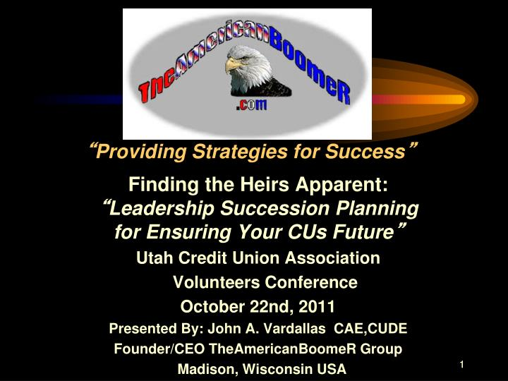 providing strategies for success n.
