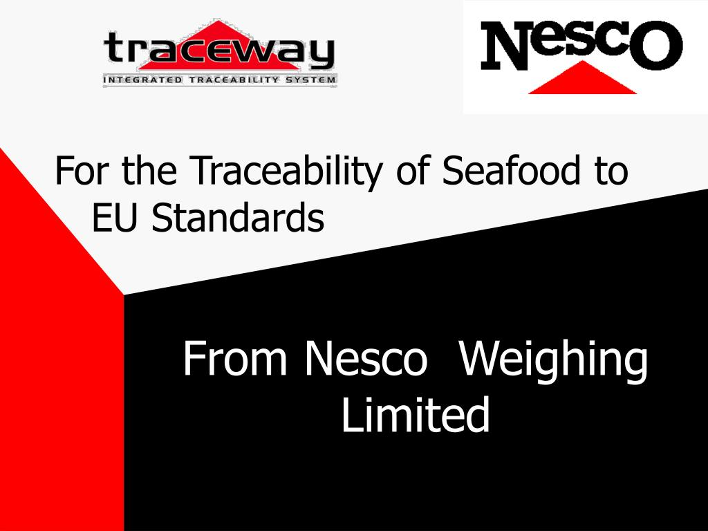 for the traceability of seafood to eu standards l.