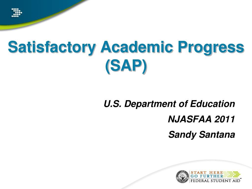 satisfactory academic progress sap l.