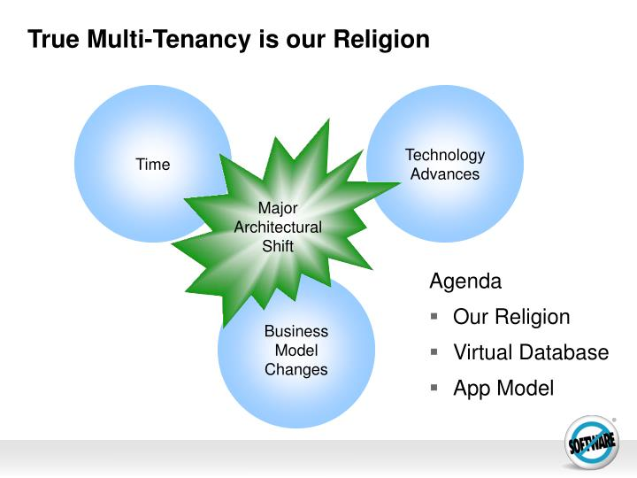 True multi tenancy is our religion