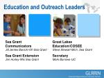 education and outreach leaders