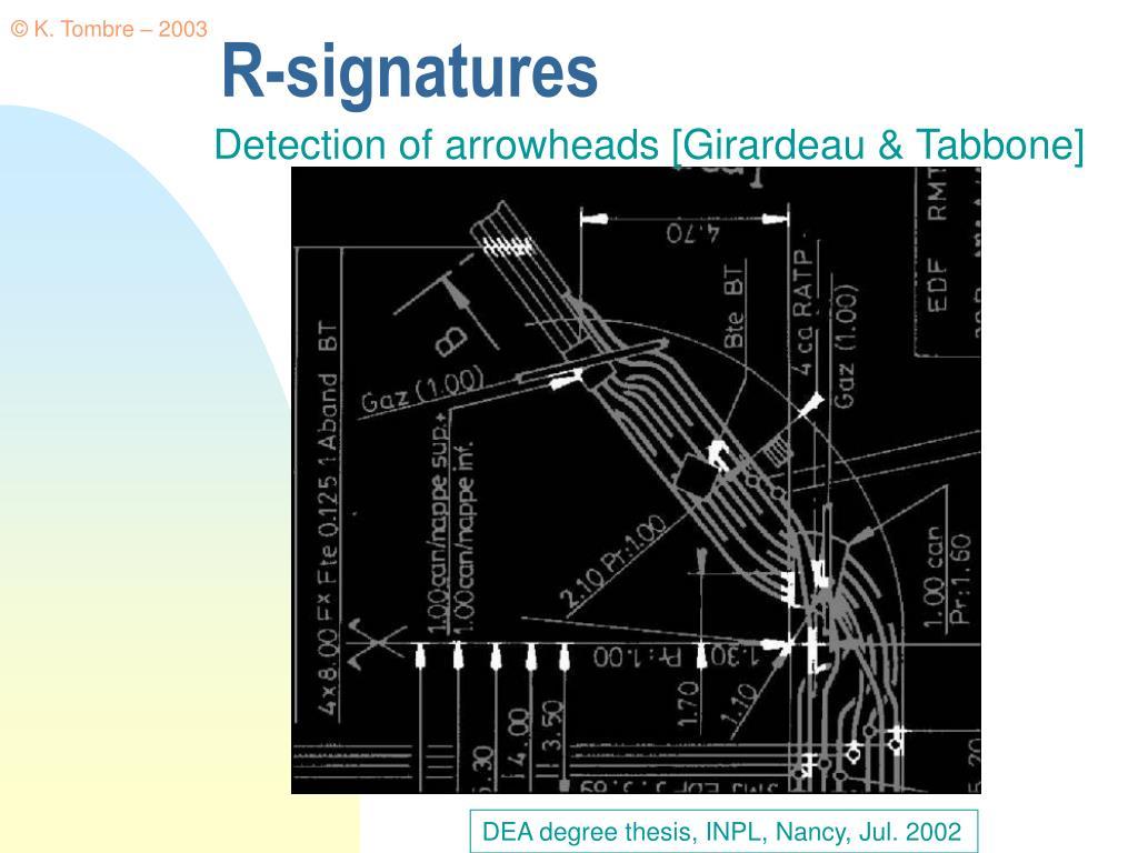 R-signatures