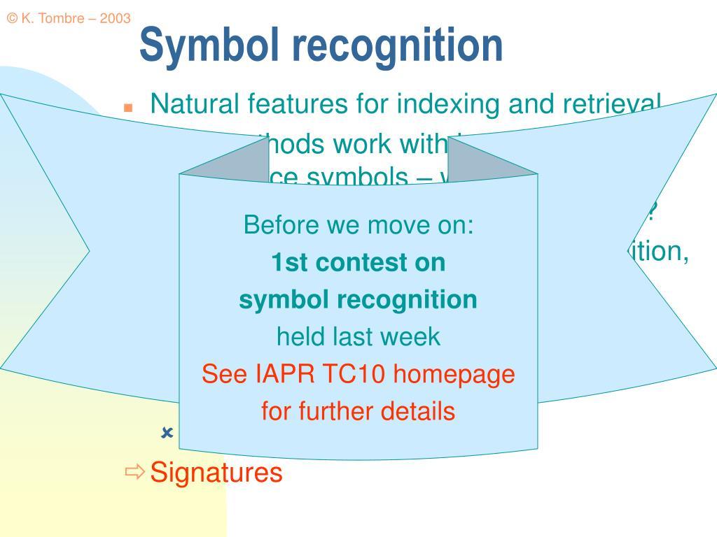 Symbol recognition