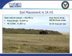 soil placement in ia h1
