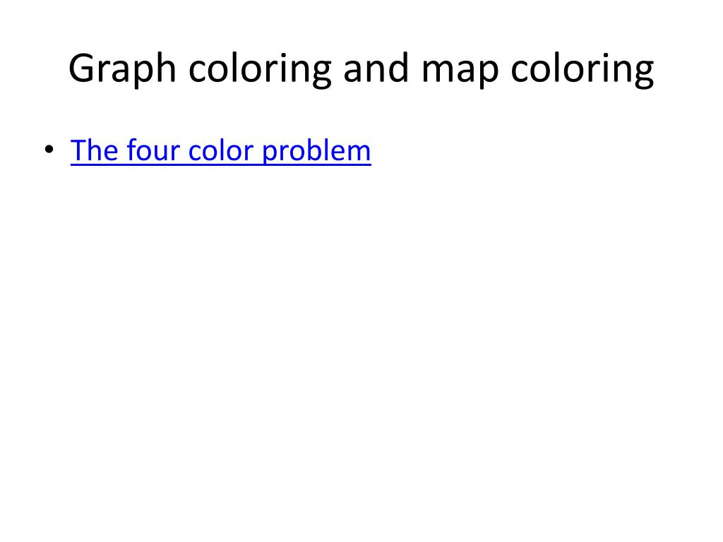Graph coloring and map coloring
