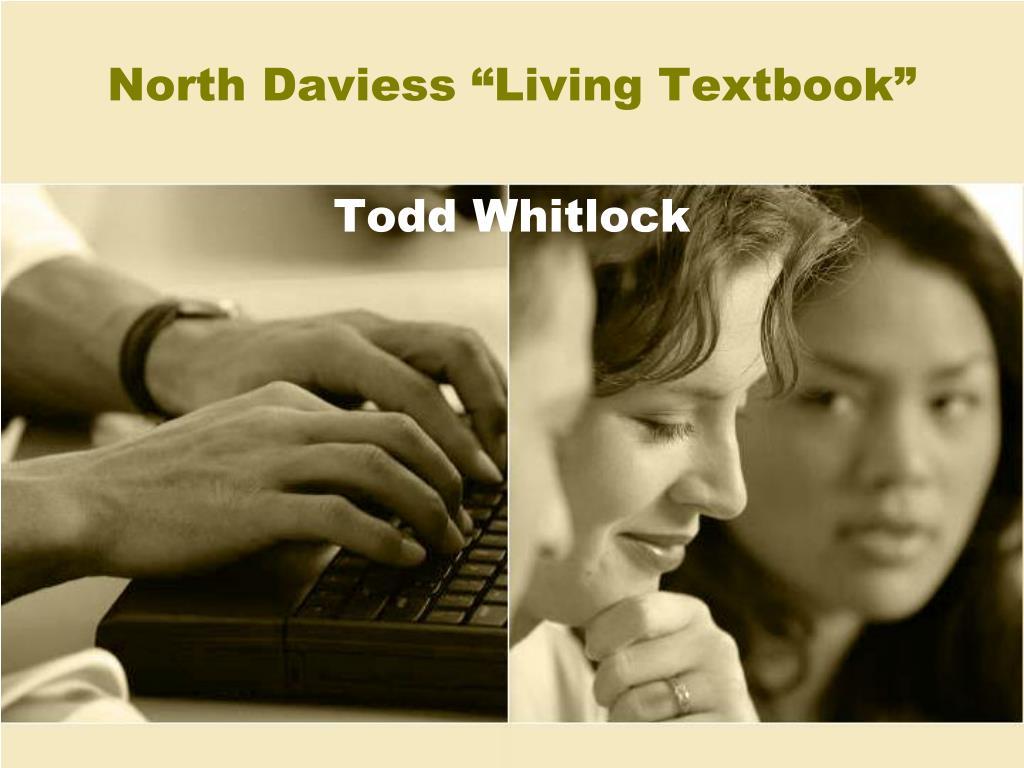 north daviess living textbook todd whitlock l.