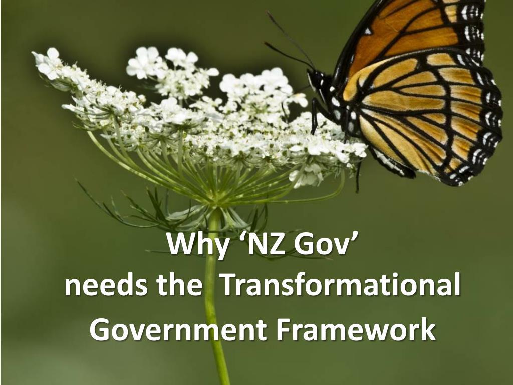 why nz gov needs the transformational government framework l.