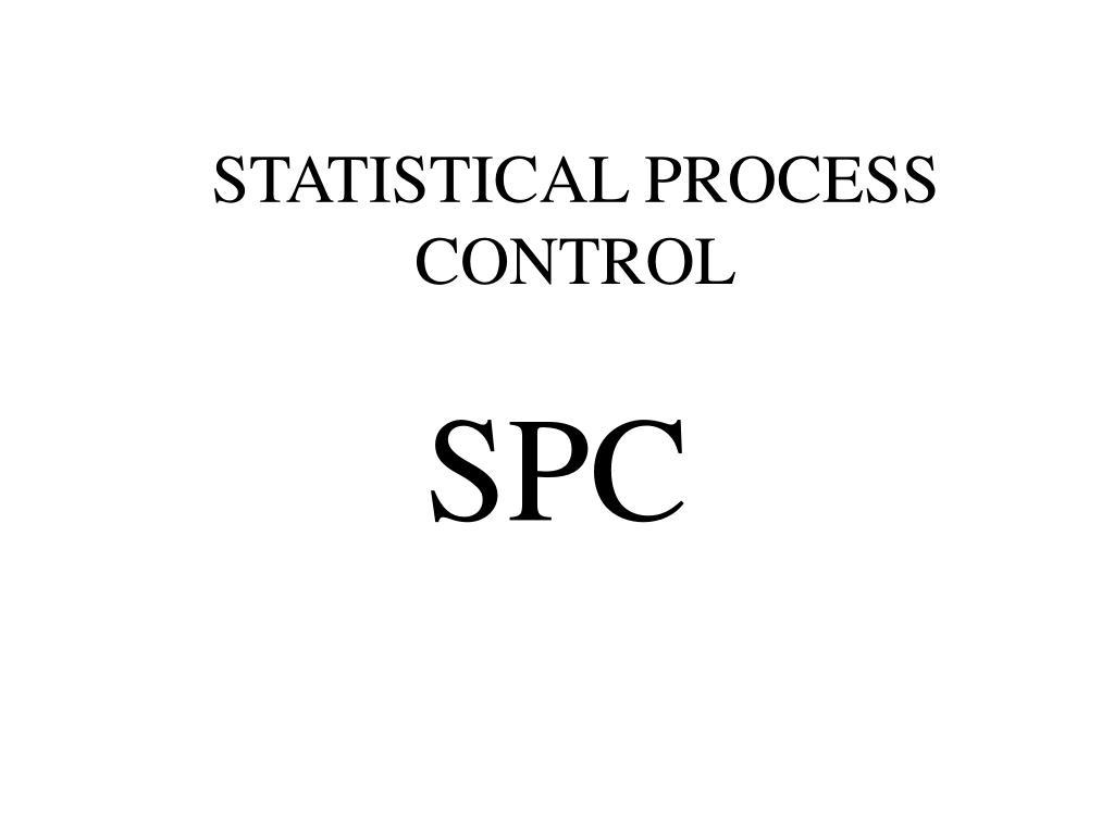 statistical process control l.