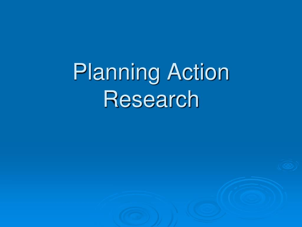 planning action research l.