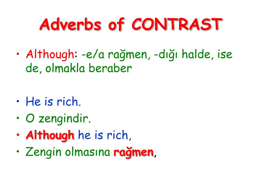 Adverbs of CONTRAST