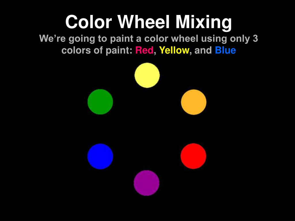 Ppt Color Wheel Mixing We Re Going To Paint A Color Wheel Using