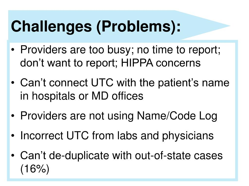 Challenges (Problems):