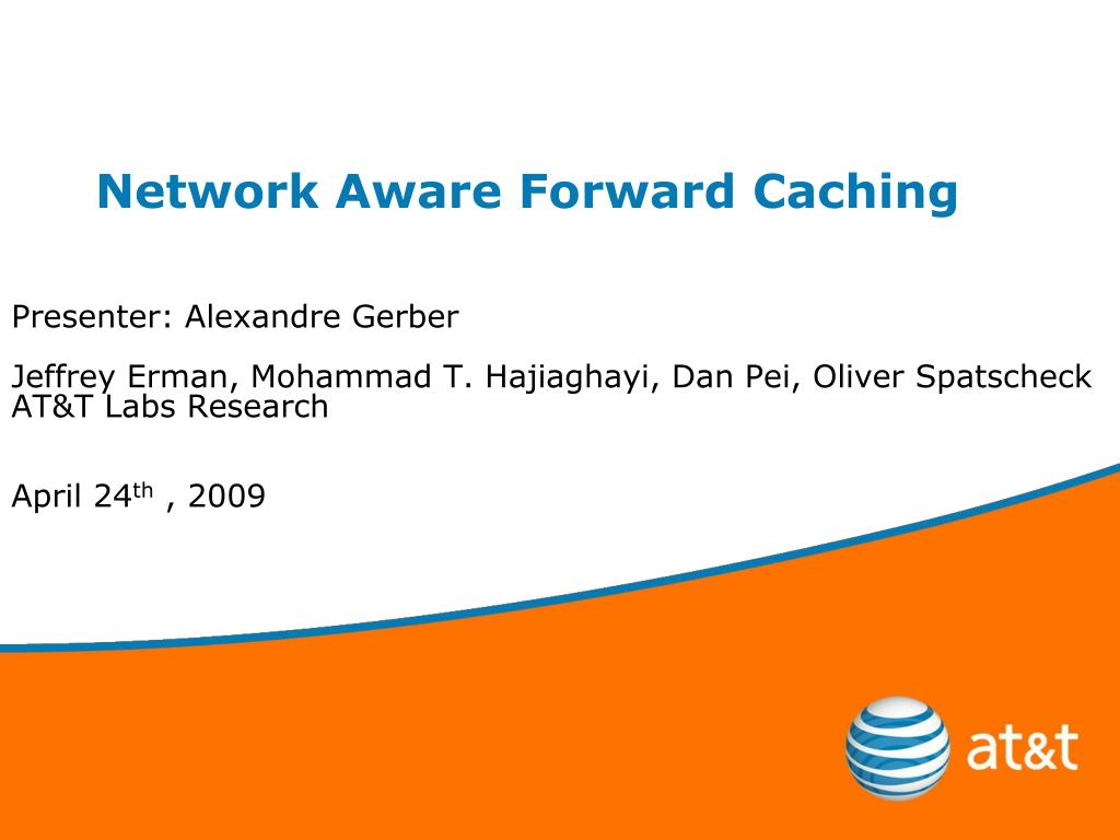 network aware forward caching l.