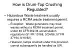 how is drum top crushing regulated40