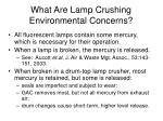 what are lamp crushing environmental concerns