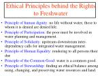 ethical principles behind the rights to freshwater