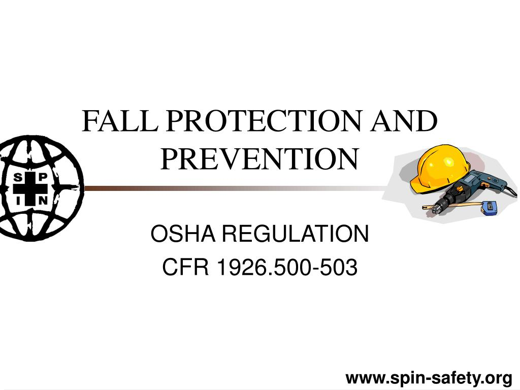 fall protection and prevention l.