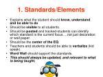 1 standards elements