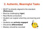 2 authentic meaningful tasks